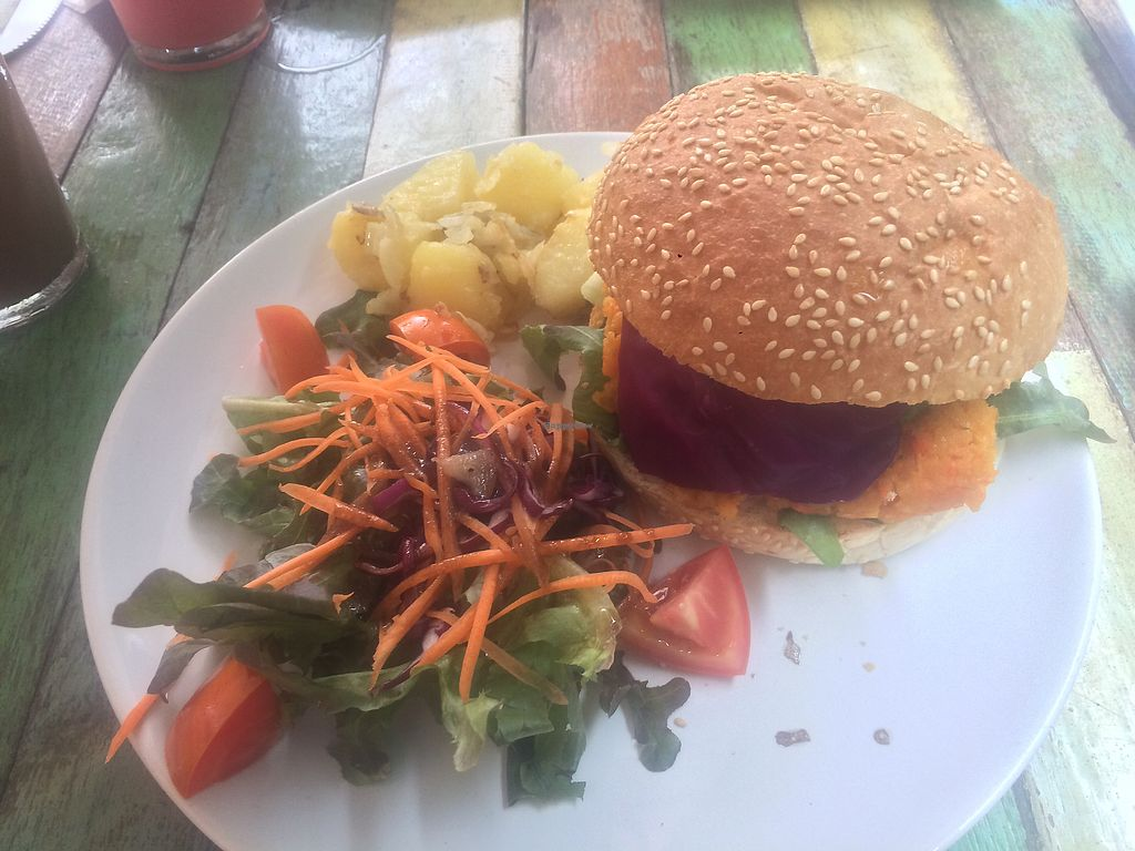 "Photo of I Love Salad  by <a href=""/members/profile/TravelAmy"">TravelAmy</a> <br/>Chickpea Burger  <br/> August 1, 2017  - <a href='/contact/abuse/image/57574/287374'>Report</a>"