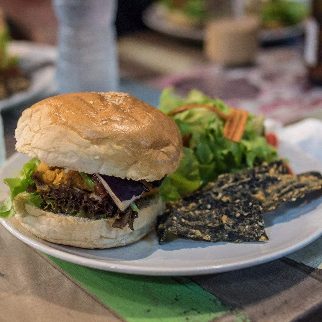 "Photo of I Love Salad  by <a href=""/members/profile/olax"">olax</a> <br/>Vegan Chickpea Burger with Seaweed Fries <br/> April 19, 2015  - <a href='/contact/abuse/image/57574/99550'>Report</a>"