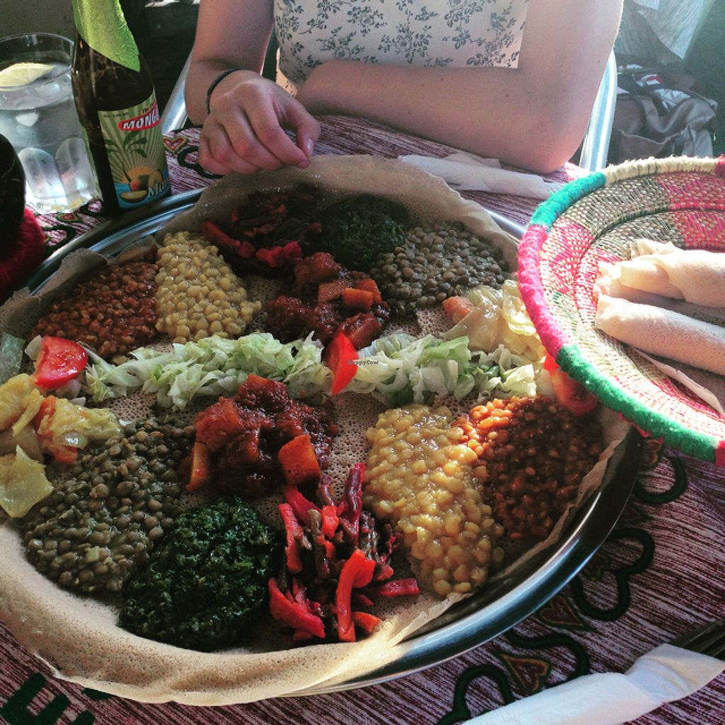 "Photo of Addis Ababa  by <a href=""/members/profile/JamesSturt"">JamesSturt</a> <br/>Amazing vegan Ethiopian food! <br/> August 13, 2015  - <a href='/contact/abuse/image/57607/113402'>Report</a>"