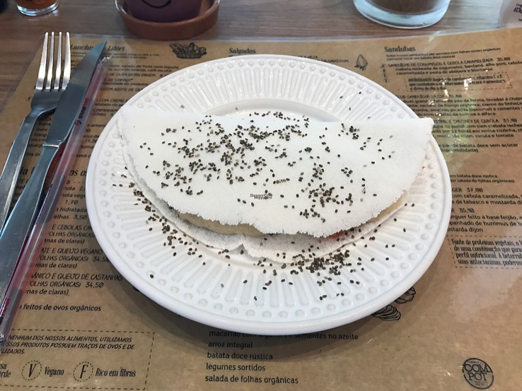 """Photo of Lilori  by <a href=""""/members/profile/Paolla"""">Paolla</a> <br/>Tapioca with vegan cheese <br/> April 4, 2017  - <a href='/contact/abuse/image/57637/244687'>Report</a>"""