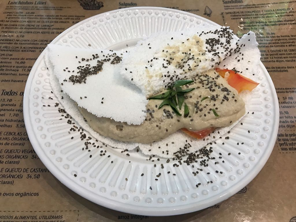 """Photo of Lilori  by <a href=""""/members/profile/Paolla"""">Paolla</a> <br/>Tapioca with vegan cheese <br/> April 4, 2017  - <a href='/contact/abuse/image/57637/244688'>Report</a>"""