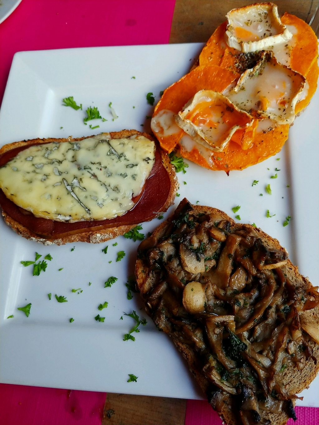 """Photo of Kick Tap'Ass  by <a href=""""/members/profile/AthenaTrombly"""">AthenaTrombly</a> <br/>toast with mushrooms for vegan, toast with squash and cheese for vegetarian, toast with meat and cheese for meat eater <br/> April 5, 2018  - <a href='/contact/abuse/image/57652/381283'>Report</a>"""