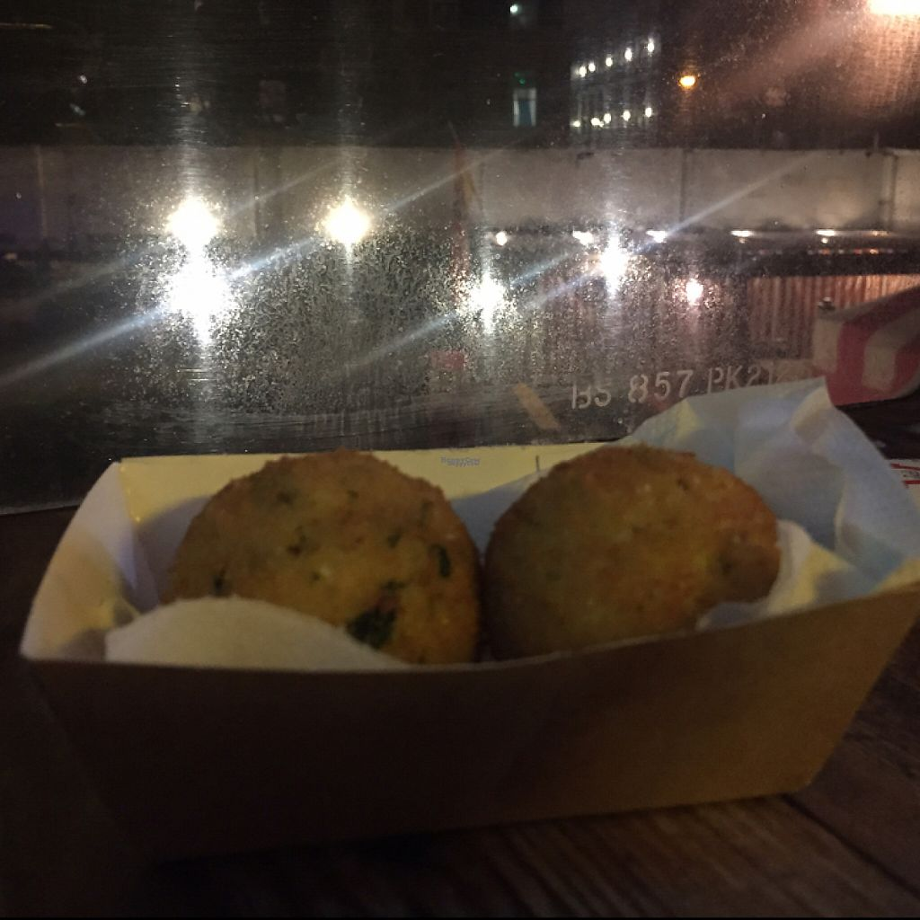 "Photo of Just FaB - Food Bus  by <a href=""/members/profile/The%20London%20Vegan"">The London Vegan</a> <br/>Vegan Arancini <br/> February 5, 2017  - <a href='/contact/abuse/image/57709/223386'>Report</a>"