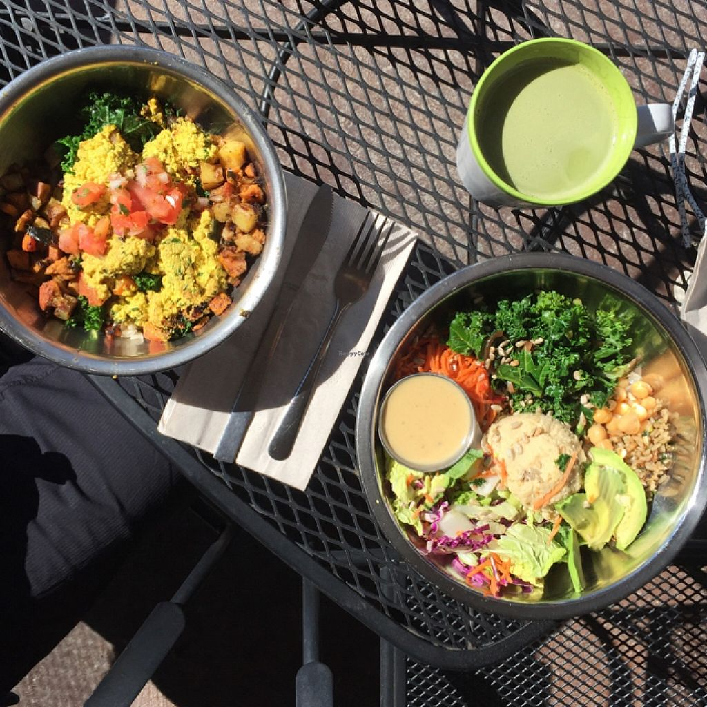 Photo of Green Sage Cafe - Westgate  by marigold139 <br/>tofu breakfast bowl and Buddha bowl, with matcha latte. Everything was divine <br/> March 7, 2016  - <a href='/contact/abuse/image/57715/139093'>Report</a>