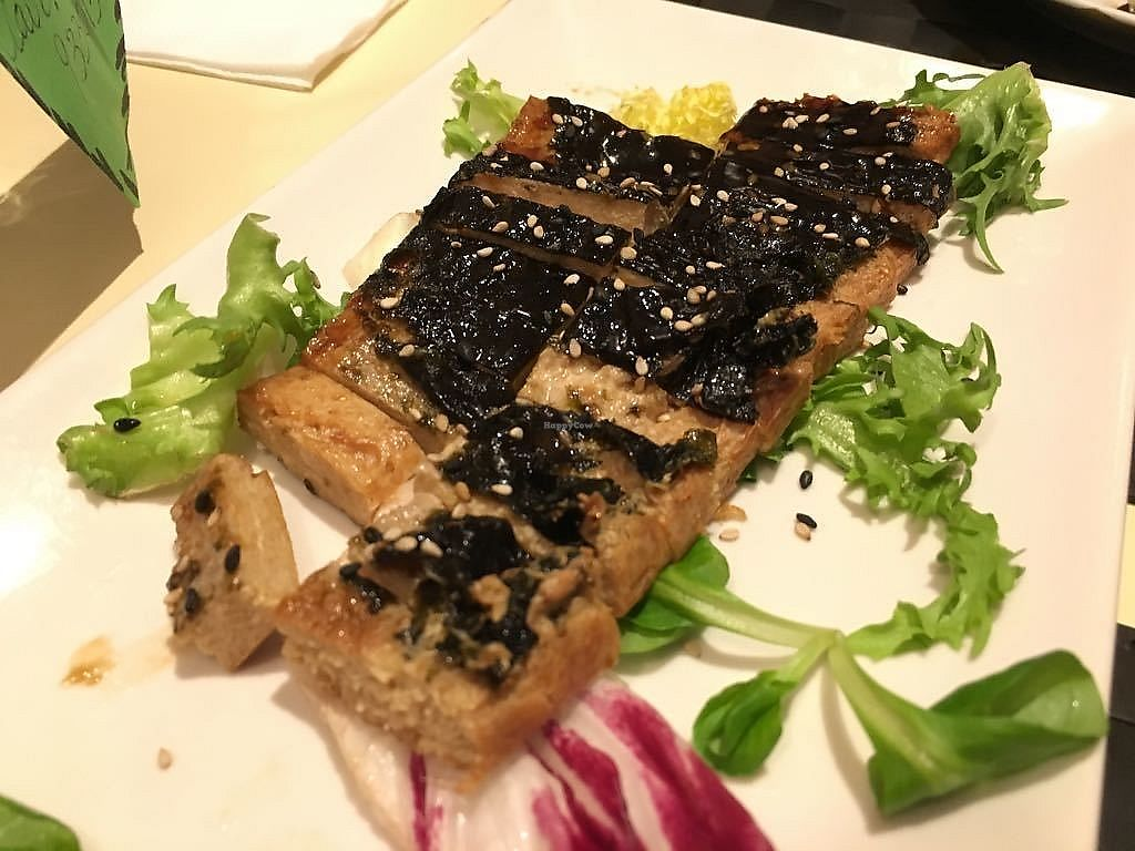 """Photo of Vegesana  by <a href=""""/members/profile/martinicontomate"""">martinicontomate</a> <br/>tofu marinated with algae <br/> October 7, 2017  - <a href='/contact/abuse/image/57731/312752'>Report</a>"""