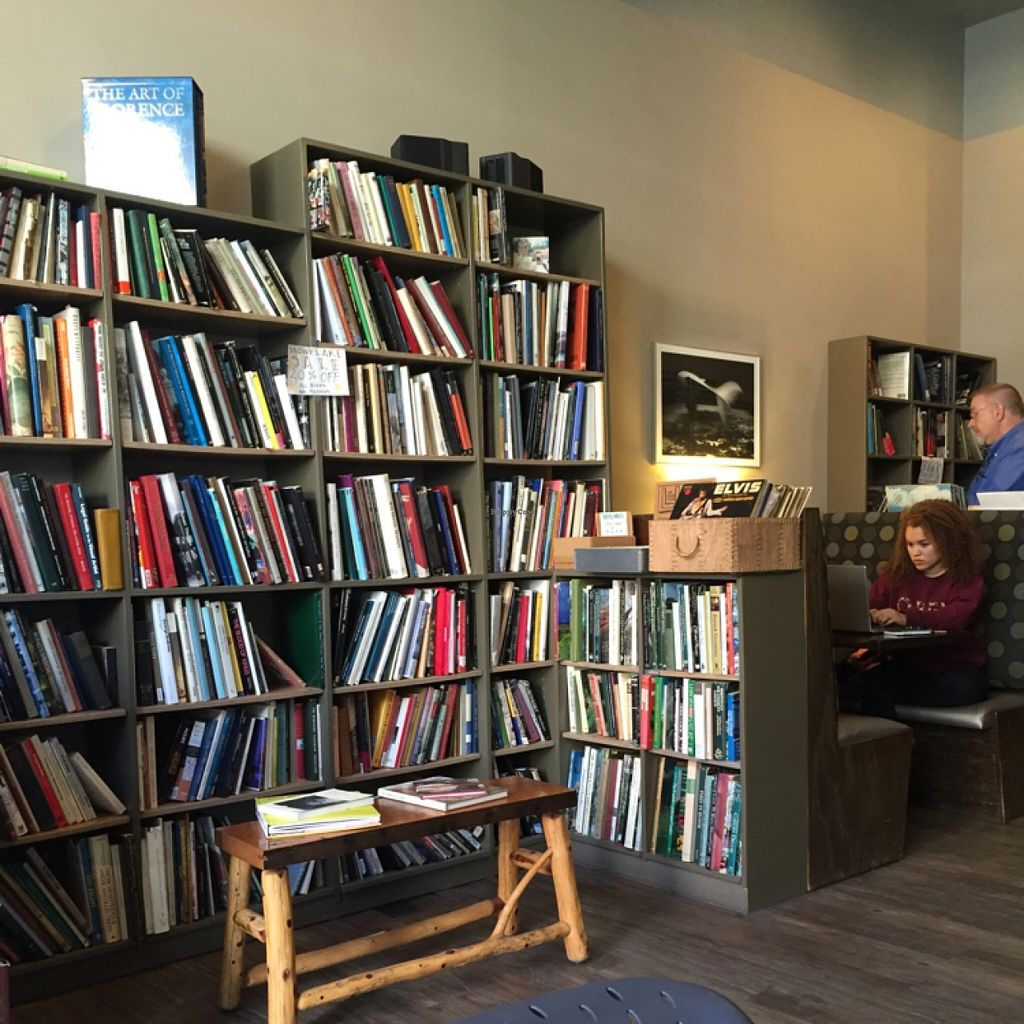 """Photo of Iris Book Cafe  by <a href=""""/members/profile/happycowgirl"""">happycowgirl</a> <br/>vintage books & vegan-friendly cafe <br/> February 28, 2016  - <a href='/contact/abuse/image/57733/138090'>Report</a>"""