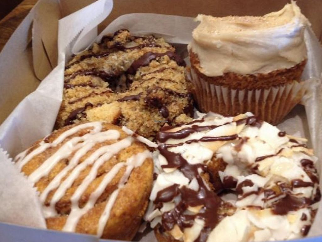 "Photo of Erin McKenna's Bakery  by <a href=""/members/profile/AlexandraPhillips"">AlexandraPhillips</a> <br/>French toasty cupcake, samoa and coffee crunch donuts are great. The cinnamon roll was hard and stale <br/> December 31, 2015  - <a href='/contact/abuse/image/57792/196479'>Report</a>"