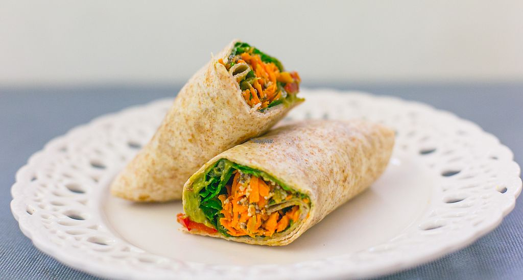 """Photo of PURE Juice Bar  by <a href=""""/members/profile/monthanos"""">monthanos</a> <br/>Vegan guacamole wrap <br/> November 30, 2016  - <a href='/contact/abuse/image/57816/195949'>Report</a>"""