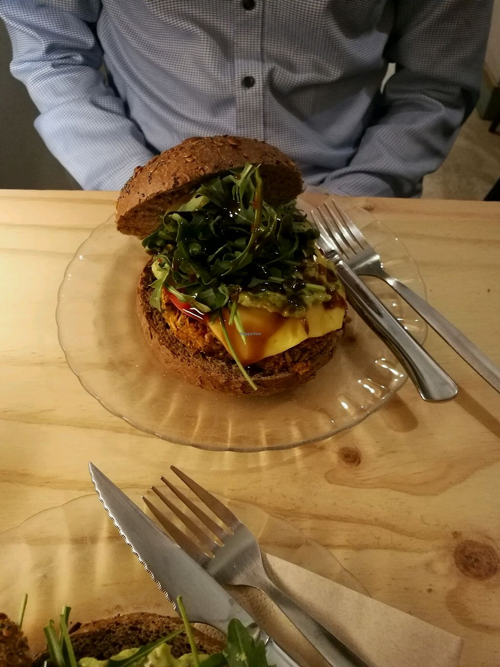 """Photo of La Camelia Vegan Bar  by <a href=""""/members/profile/Caciquenl"""">Caciquenl</a> <br/>vegan burger  <br/> February 5, 2018  - <a href='/contact/abuse/image/57833/355417'>Report</a>"""