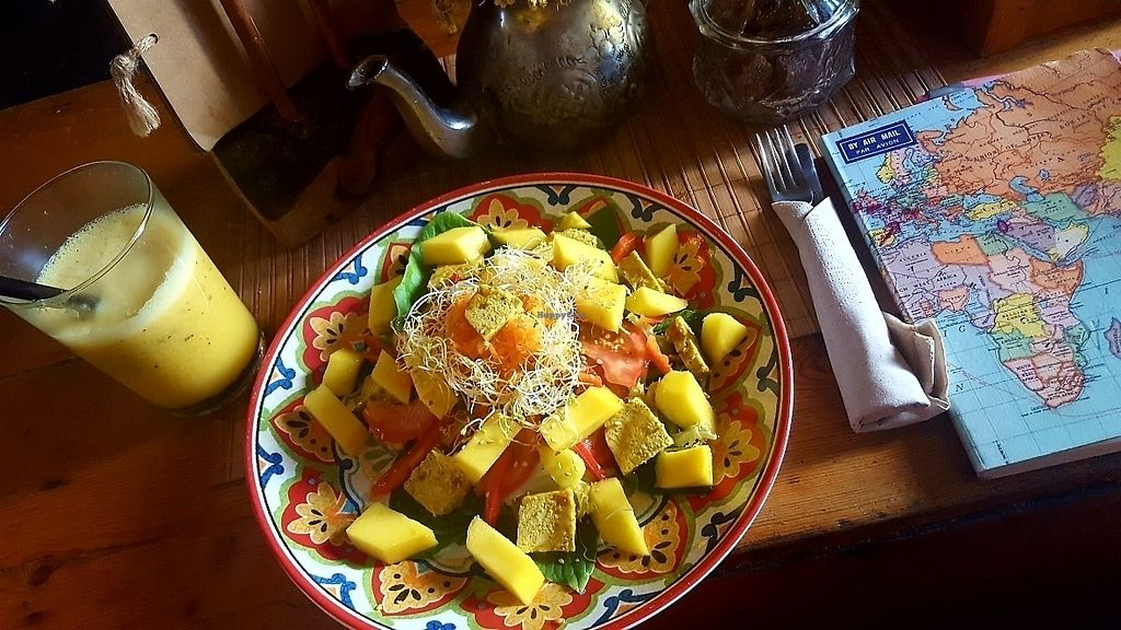 """Photo of Brown Sugar  by <a href=""""/members/profile/Prajna"""">Prajna</a> <br/>Vegan curry tofu mango salad. yum. just very yummy.  <br/> June 13, 2017  - <a href='/contact/abuse/image/57856/268755'>Report</a>"""