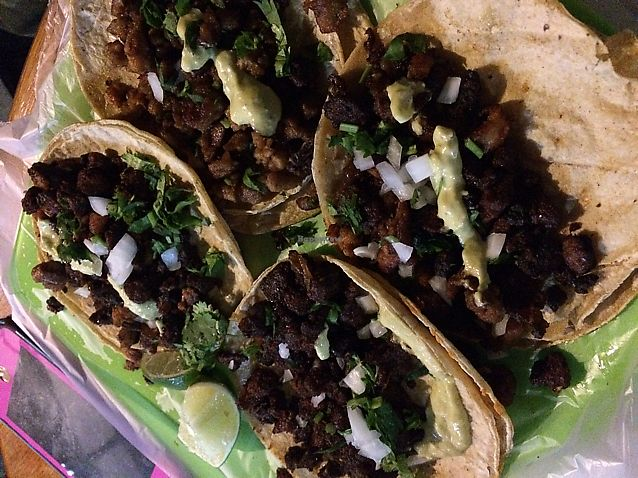 """Photo of Vegan Pa' Cá'  by <a href=""""/members/profile/MattRuscigno"""">MattRuscigno</a> <br/>tacos! <br/> October 23, 2017  - <a href='/contact/abuse/image/57926/318192'>Report</a>"""