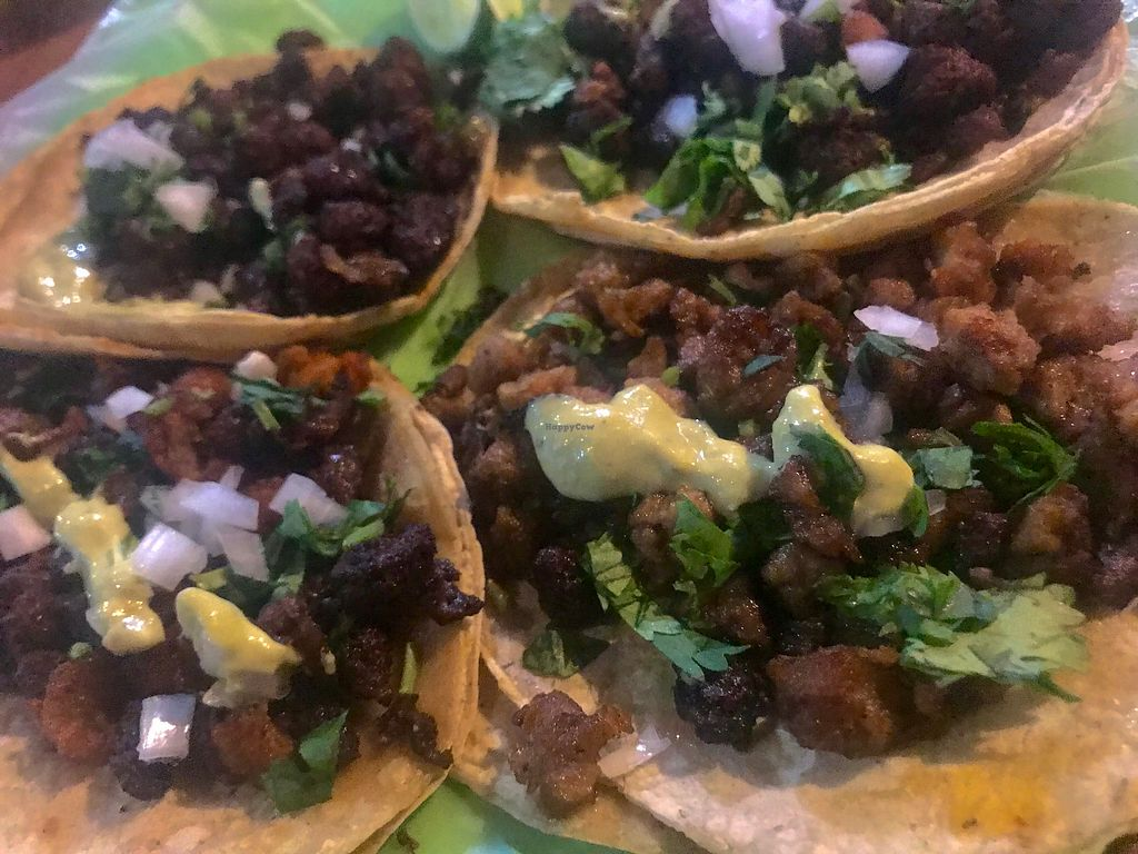 """Photo of Vegan Pa' Cá'  by <a href=""""/members/profile/LGraves"""">LGraves</a> <br/>Best tacos ever <br/> October 23, 2017  - <a href='/contact/abuse/image/57926/318193'>Report</a>"""