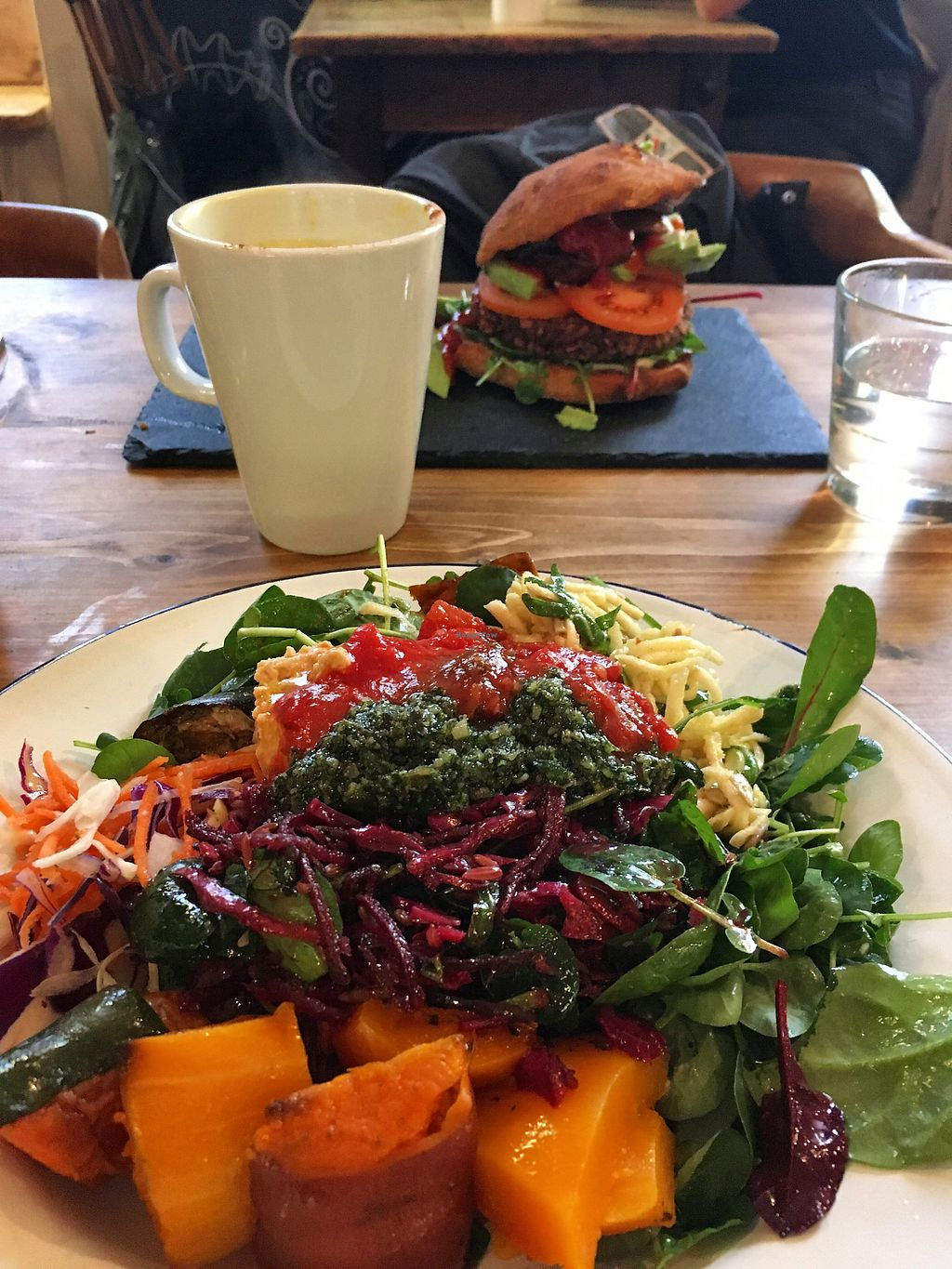 "Photo of Beyond the Kale  by <a href=""/members/profile/FranMcgarryArtist"">FranMcgarryArtist</a> <br/>Vegan Salad & Burger. ?  <br/> January 22, 2018  - <a href='/contact/abuse/image/57927/349695'>Report</a>"