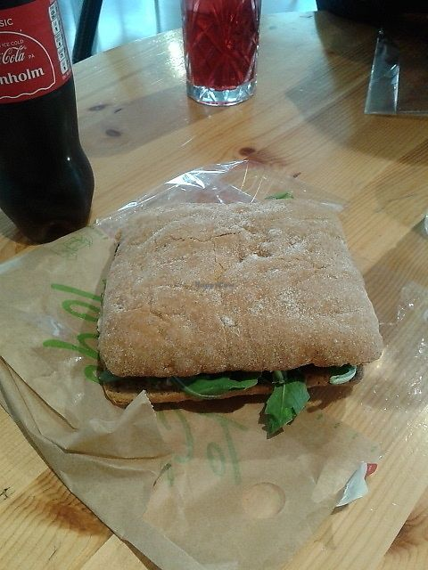 "Photo of Urban House  by <a href=""/members/profile/deadpledge"">deadpledge</a> <br/>Vegan sandwich (aubergine, hummus, salad and tomato) <br/> July 29, 2017  - <a href='/contact/abuse/image/57943/286163'>Report</a>"