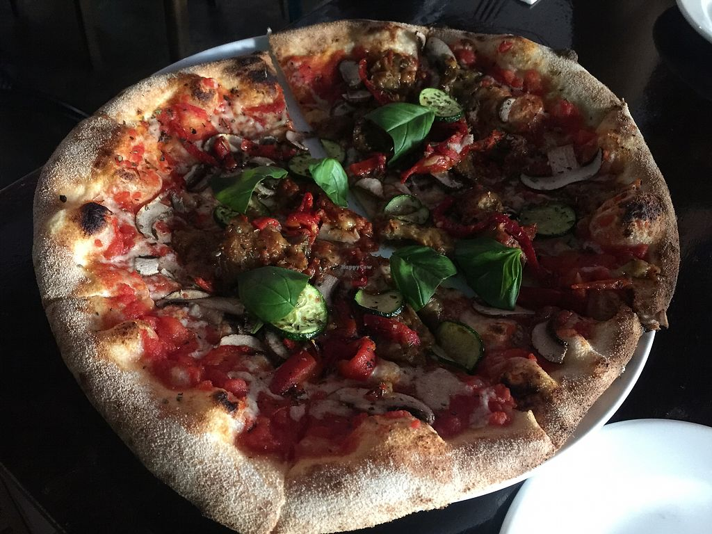 "Photo of Cin Cin  by <a href=""/members/profile/Tiggy"">Tiggy</a> <br/>Vegan Verdura pizza $25 - Good pizza <br/> January 11, 2018  - <a href='/contact/abuse/image/57944/345347'>Report</a>"