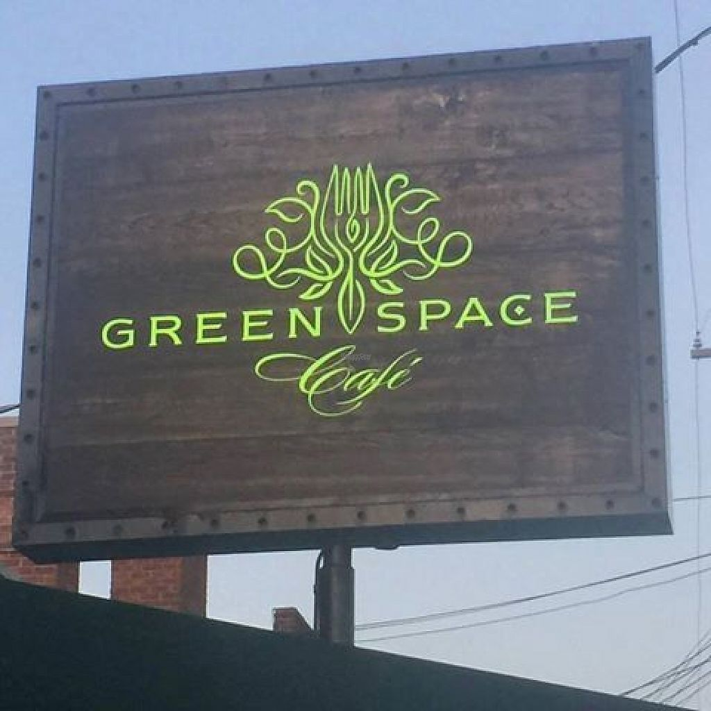 "Photo of GreenSpace Cafe  by <a href=""/members/profile/MyPlantBasedFam"">MyPlantBasedFam</a> <br/>GreenSpace Cafe Sign <br/> December 13, 2016  - <a href='/contact/abuse/image/57951/200860'>Report</a>"