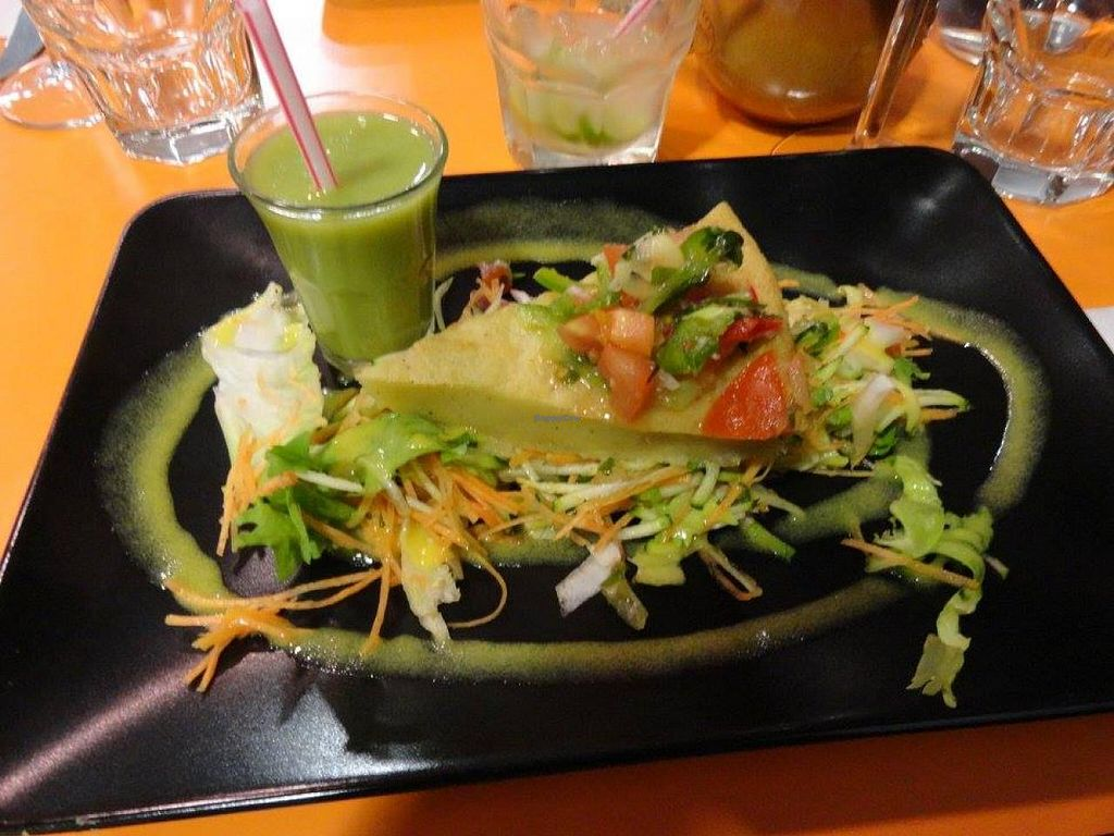 "Photo of So Good Brasil  by <a href=""/members/profile/JonJon"">JonJon</a> <br/>Vegan starters: gazpacho, salad and polenta cake <br/> May 5, 2015  - <a href='/contact/abuse/image/57957/101291'>Report</a>"