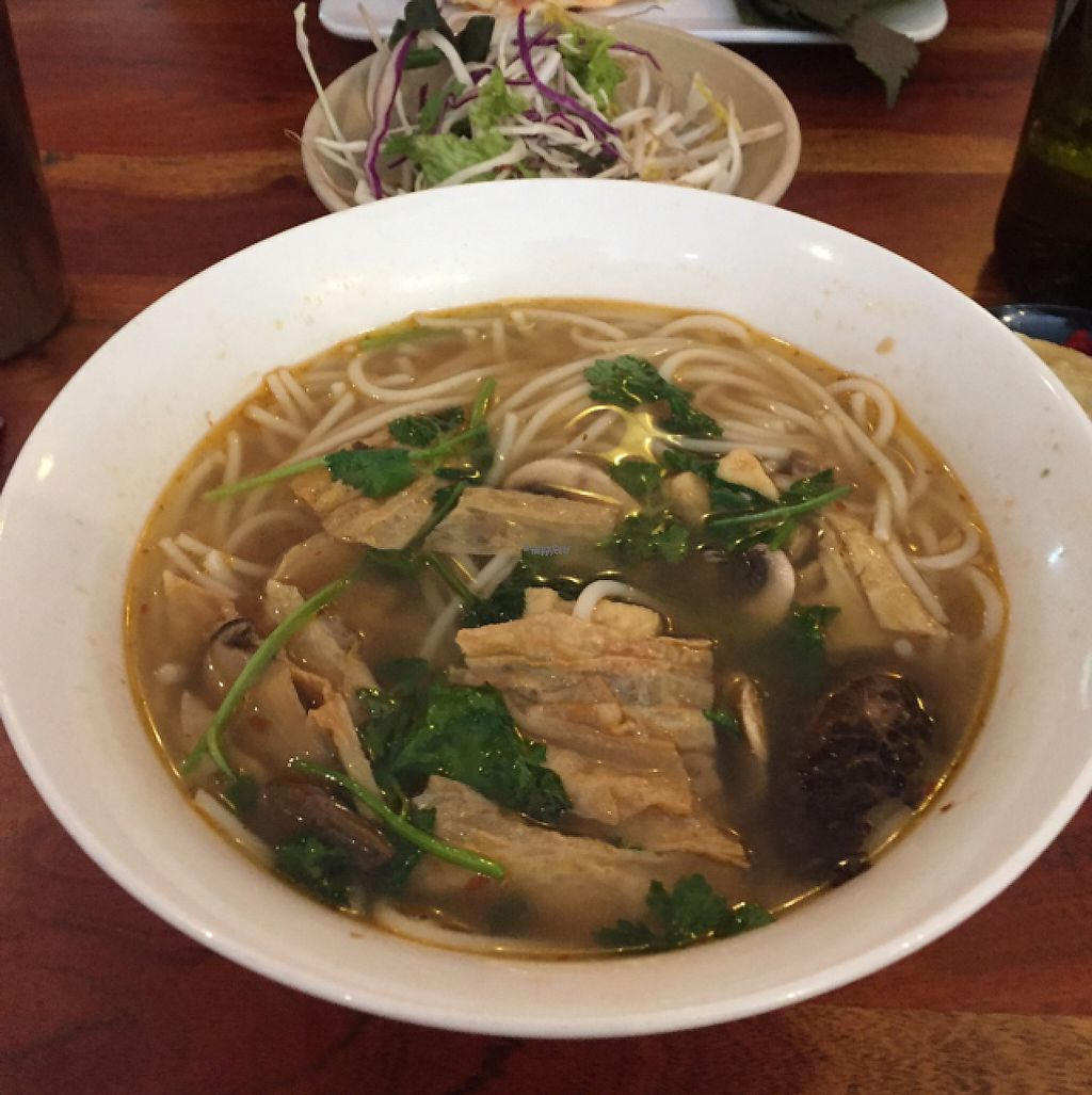 "Photo of Fina's 2  by <a href=""/members/profile/roguecat"">roguecat</a> <br/>This was the Vietnamese Spicy Noodle Soup. It came with a side dish of cabbage, bean sprouts, chilli and lemon wedge.  <br/> April 12, 2017  - <a href='/contact/abuse/image/58007/247202'>Report</a>"
