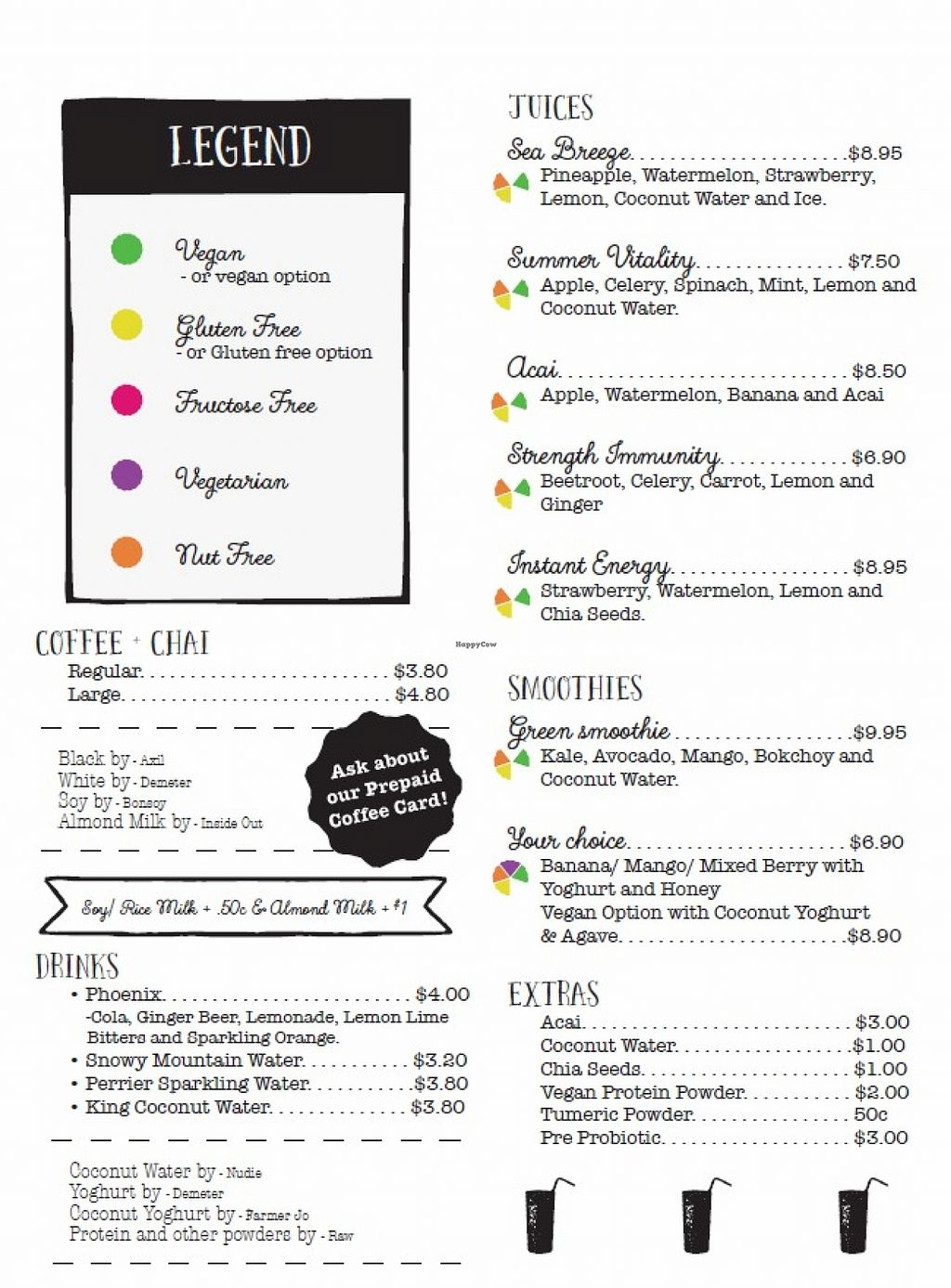 """Photo of Healthy Planet Cafe  by <a href=""""/members/profile/verbosity"""">verbosity</a> <br/>Menu - page 1 <br/> November 2, 2015  - <a href='/contact/abuse/image/58008/123586'>Report</a>"""