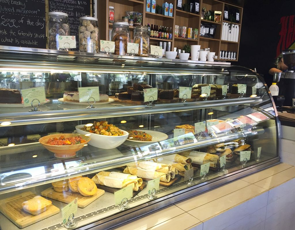 """Photo of Healthy Planet Cafe  by <a href=""""/members/profile/karlaess"""">karlaess</a> <br/>Display cabinet <br/> November 8, 2015  - <a href='/contact/abuse/image/58008/124229'>Report</a>"""