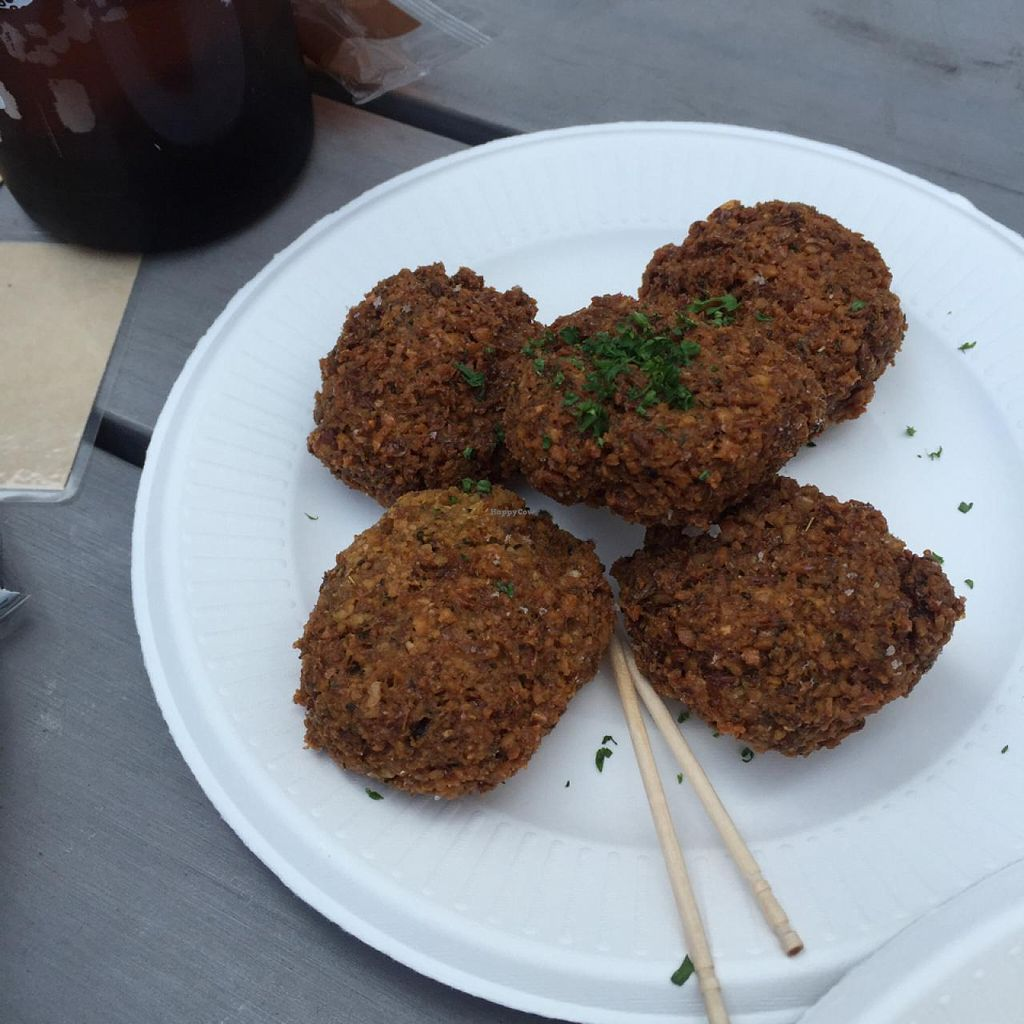 """Photo of Cori Vegan Foodstand  by <a href=""""/members/profile/StephieLin"""">StephieLin</a> <br/>falafel  <br/> May 4, 2015  - <a href='/contact/abuse/image/58013/101167'>Report</a>"""