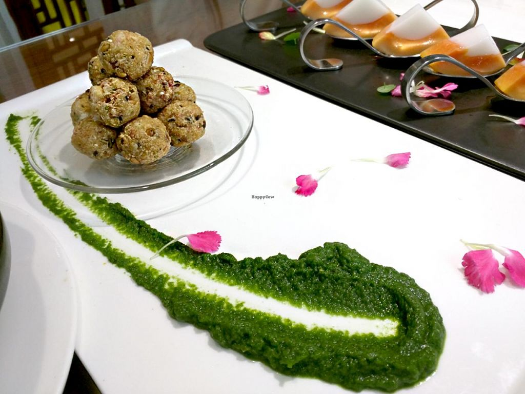 """Photo of Belencre Vegan Restaurant  by <a href=""""/members/profile/shara"""">shara</a> <br/>Vegan tofu balls <br/> May 4, 2015  - <a href='/contact/abuse/image/58029/101213'>Report</a>"""