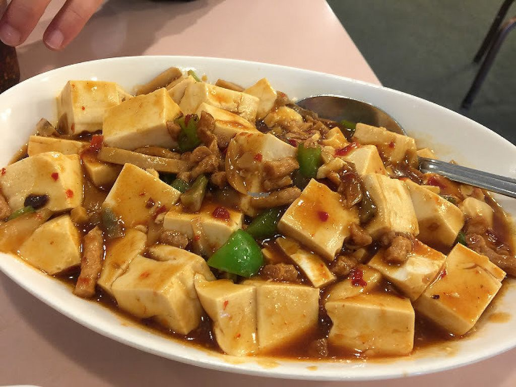 """Photo of Veggie Lee  by <a href=""""/members/profile/steveoliverc"""">steveoliverc</a> <br/>Tofu and fried (mock) pork <br/> December 17, 2016  - <a href='/contact/abuse/image/58042/202254'>Report</a>"""