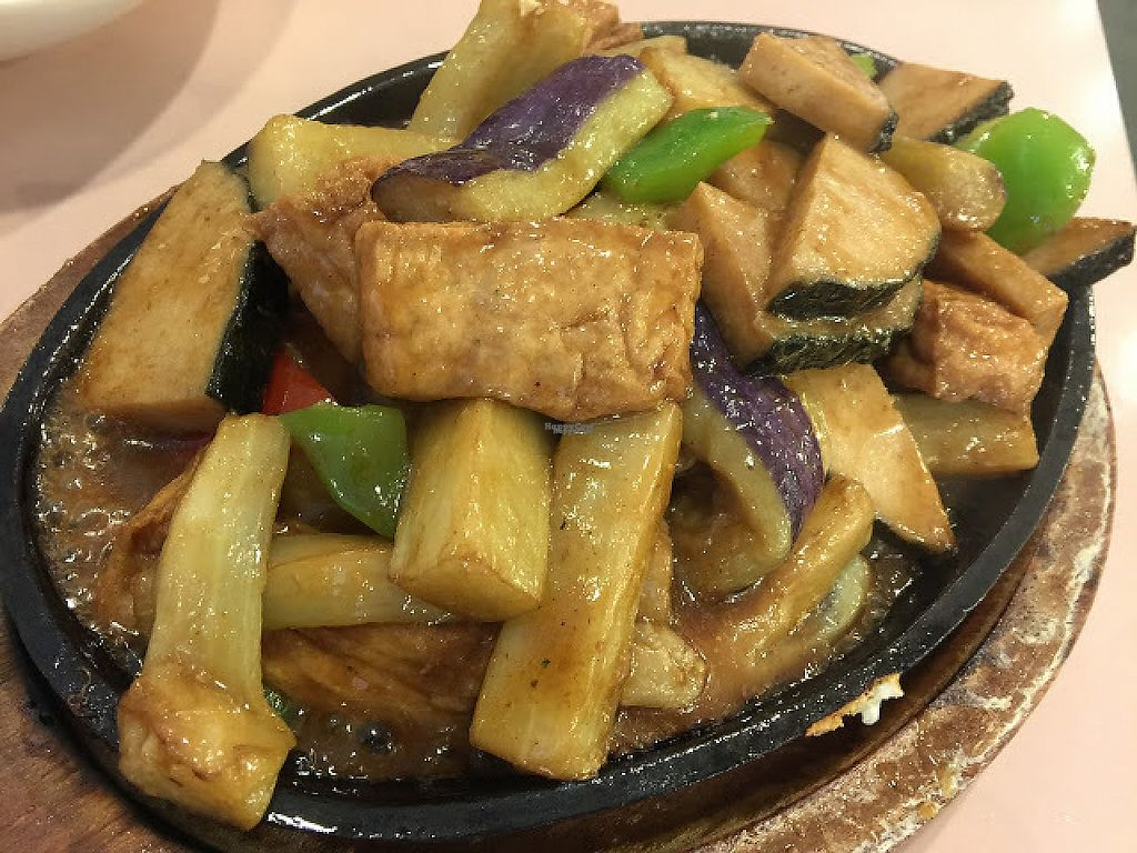 """Photo of Veggie Lee  by <a href=""""/members/profile/steveoliverc"""">steveoliverc</a> <br/>Sizzling eggplant with mock fish steak and tofu. Delicious and great presentation <br/> December 17, 2016  - <a href='/contact/abuse/image/58042/202256'>Report</a>"""
