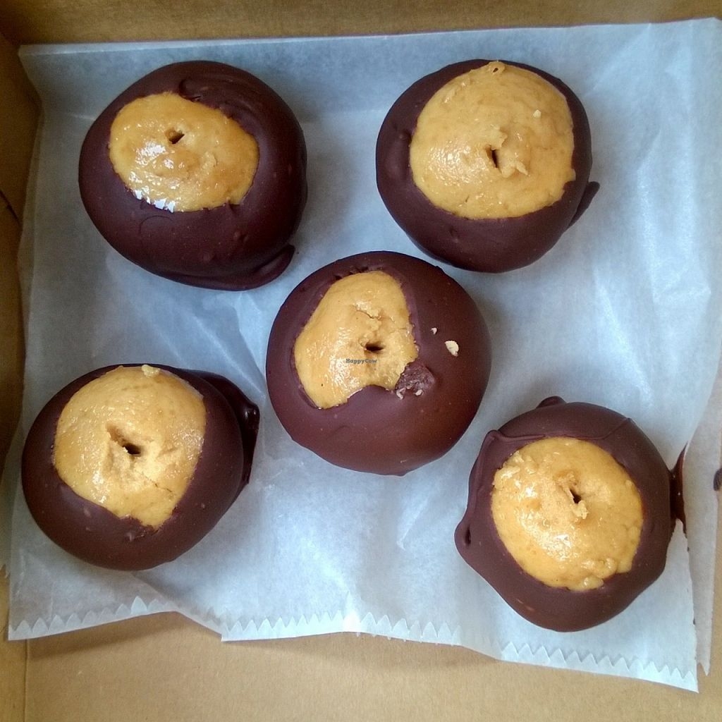 """Photo of Buttermilk Bake Shop  by <a href=""""/members/profile/meredith"""">meredith</a> <br/>I called ahead and asked if they had anything vegan and they made these vegan buckeye balls! Just for me... I think they were made, but not yet dipped, but still... I appreciated it greatly! <br/> August 1, 2015  - <a href='/contact/abuse/image/58045/111886'>Report</a>"""