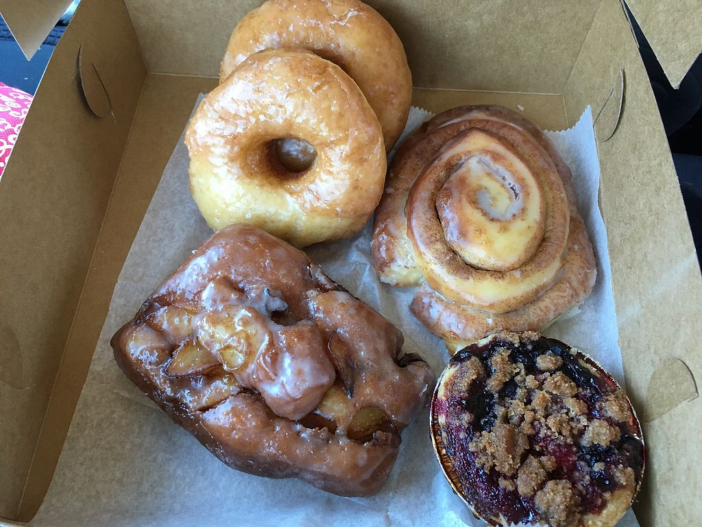 """Photo of Buttermilk Bake Shop  by <a href=""""/members/profile/meredith"""">meredith</a> <br/>Pie, fritter, donuts, cinnamon roll  <br/> September 23, 2017  - <a href='/contact/abuse/image/58045/307294'>Report</a>"""
