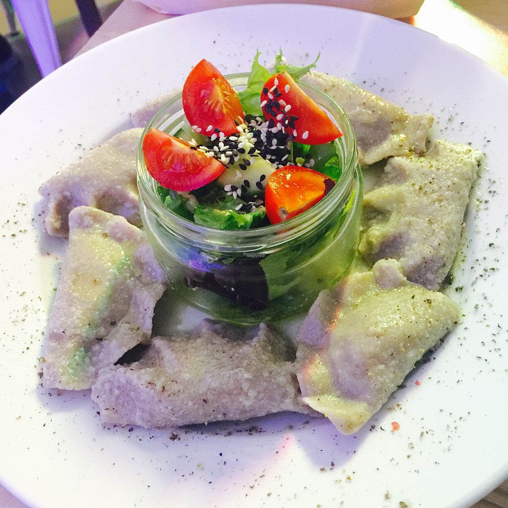 """Photo of Vege Bistro - Polish Vegan Food  by <a href=""""/members/profile/KasiaFraser"""">KasiaFraser</a> <br/>pierogi gf  <br/> September 12, 2016  - <a href='/contact/abuse/image/58057/175204'>Report</a>"""