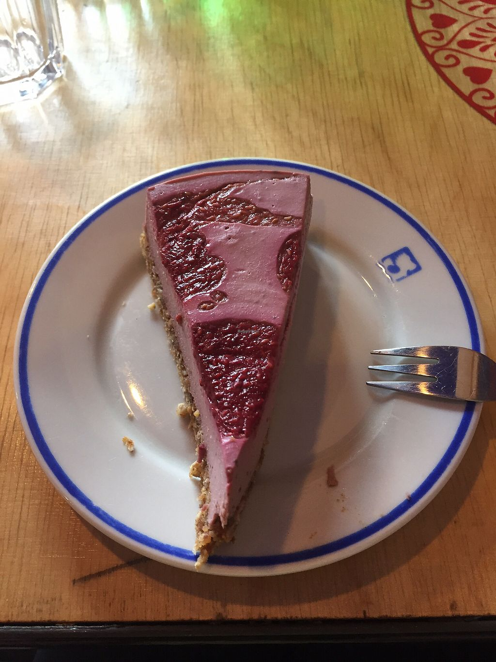 """Photo of Vege Bistro - Polish Vegan Food  by <a href=""""/members/profile/Sophiapalmqvist"""">Sophiapalmqvist</a> <br/>raspberry cheesecake <br/> August 12, 2017  - <a href='/contact/abuse/image/58057/291940'>Report</a>"""
