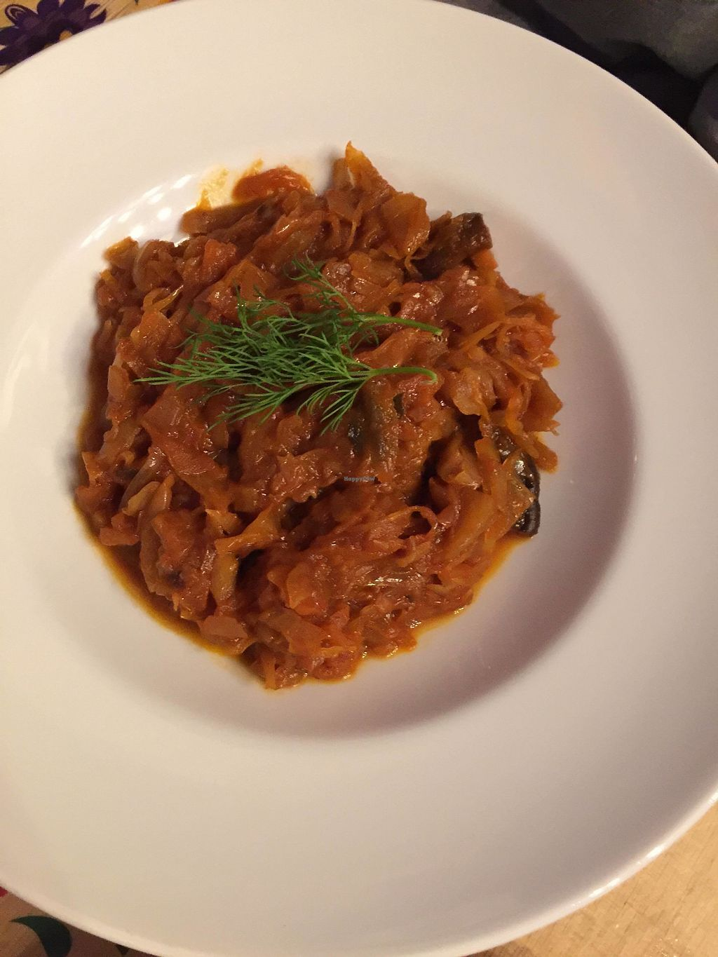 """Photo of Vege Bistro - Polish Vegan Food  by <a href=""""/members/profile/FernandoMoreira"""">FernandoMoreira</a> <br/>cabbage stew <br/> February 20, 2018  - <a href='/contact/abuse/image/58057/361786'>Report</a>"""