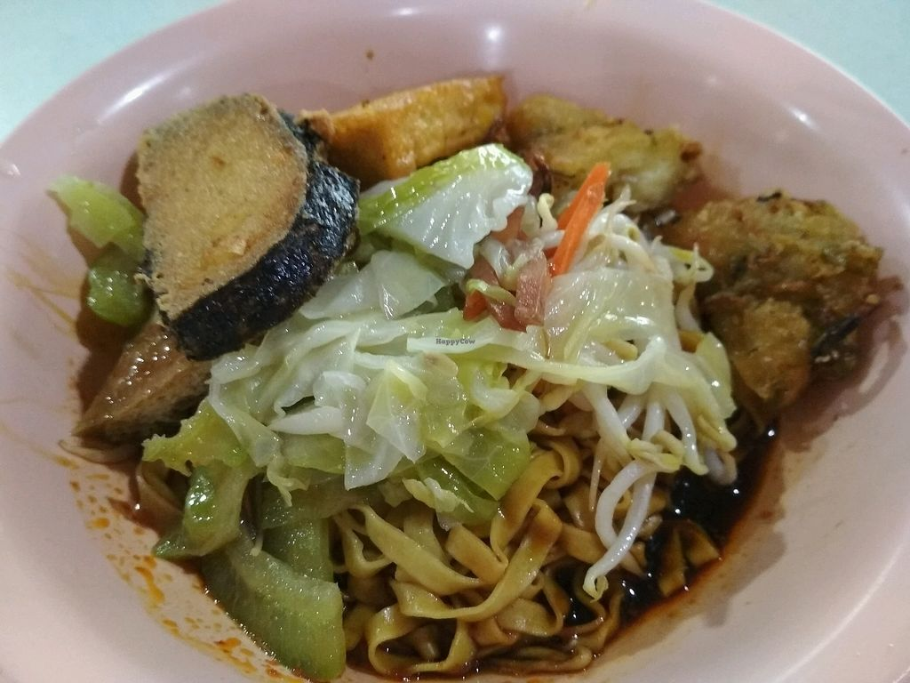 """Photo of Tian Fook Vegetarian Stall  by <a href=""""/members/profile/kwatoyo"""">kwatoyo</a> <br/>Mee Pok dry noodles  <br/> January 10, 2018  - <a href='/contact/abuse/image/58064/344851'>Report</a>"""