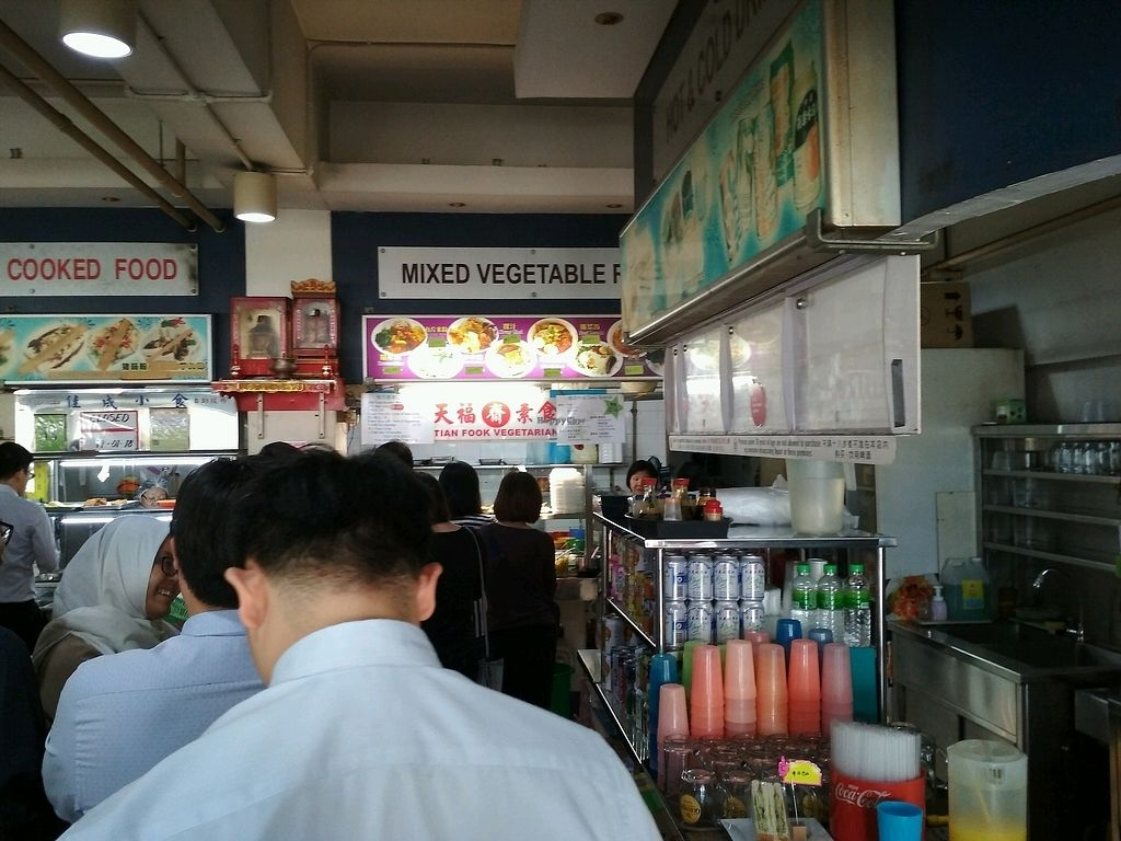 """Photo of Tian Fook Vegetarian Stall  by <a href=""""/members/profile/kwatoyo"""">kwatoyo</a> <br/>long queue at about 12 noon <br/> January 15, 2018  - <a href='/contact/abuse/image/58064/346783'>Report</a>"""