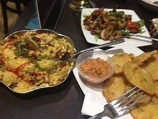 "Photo of Bhel Puri House  by <a href=""/members/profile/dontbedaft"">dontbedaft</a> <br/>Bhel puri, Chilli Mushrooms and Aloo fritters <br/> October 5, 2017  - <a href='/contact/abuse/image/58072/311969'>Report</a>"