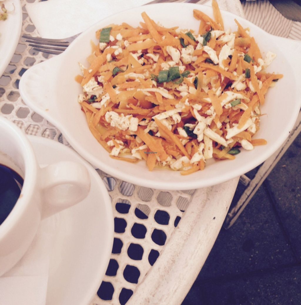 """Photo of Cafe Mlynek  by <a href=""""/members/profile/catha"""">catha</a> <br/>tofu and carrots  <br/> September 7, 2015  - <a href='/contact/abuse/image/5813/116760'>Report</a>"""