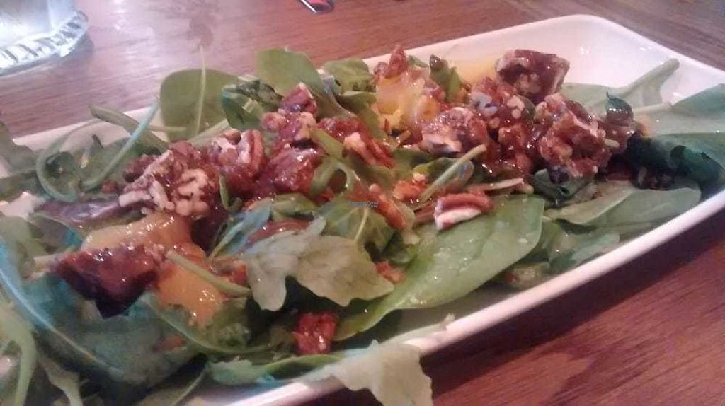 """Photo of Las Iguanas  by <a href=""""/members/profile/TrixieFirecracker"""">TrixieFirecracker</a> <br/>Mango and pecan salad <br/> January 1, 2017  - <a href='/contact/abuse/image/58144/206717'>Report</a>"""