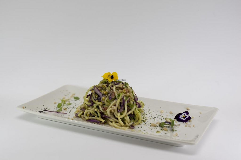 """Photo of CLOSED: Botanique  by <a href=""""/members/profile/viktorbeat"""">viktorbeat</a> <br/>Zucchini pasta with pesto. Raw vegan, delicious, healthy, organic and cheap!  <br/> May 7, 2015  - <a href='/contact/abuse/image/58150/101533'>Report</a>"""