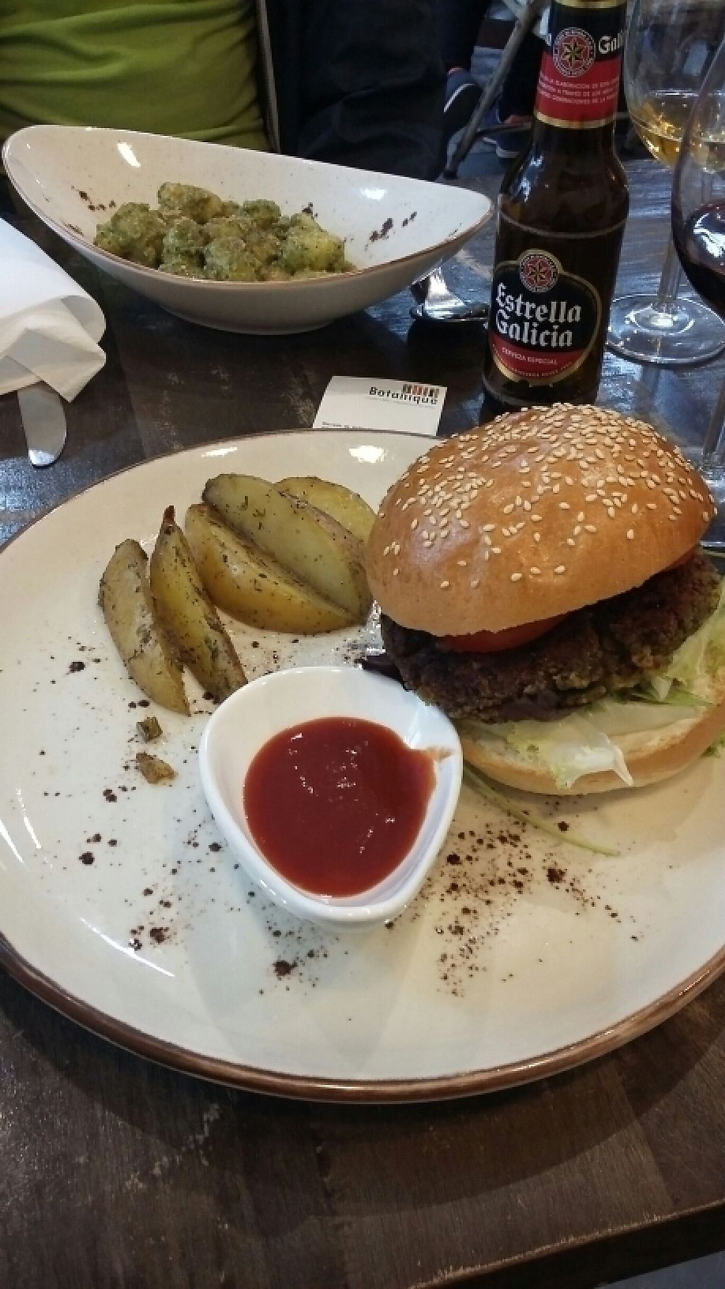 """Photo of CLOSED: Botanique  by <a href=""""/members/profile/Vegan-Vinyl-Avengers"""">Vegan-Vinyl-Avengers</a> <br/>Chickpea burger and gnocchi ♡ <br/> April 4, 2017  - <a href='/contact/abuse/image/58150/244675'>Report</a>"""