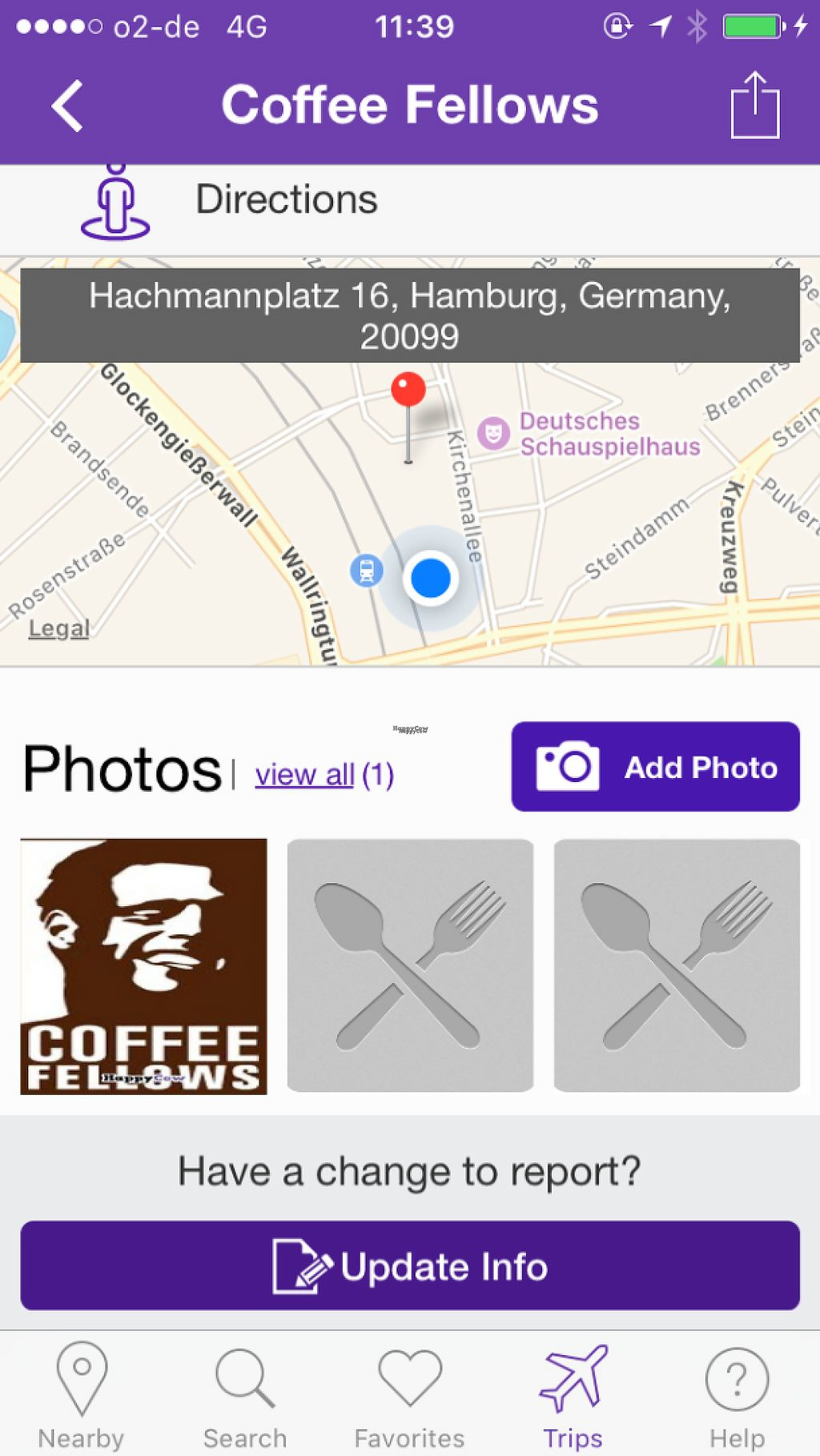 """Photo of Coffee Fellows  by <a href=""""/members/profile/LisaCupcake"""">LisaCupcake</a> <br/>The blue circle shows where Coffee Fellows actually is (I was inside it when I took this screenshot). :) <br/> December 25, 2016  - <a href='/contact/abuse/image/58166/204619'>Report</a>"""