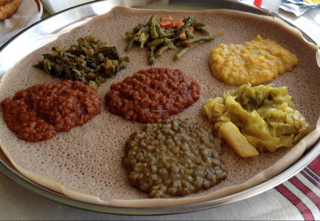 """Photo of Gojo Ethiopian  by <a href=""""/members/profile/Tigra220"""">Tigra220</a> <br/>Veggie Combo <br/> May 8, 2015  - <a href='/contact/abuse/image/58170/101669'>Report</a>"""
