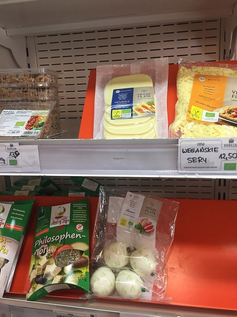 """Photo of BioBazar  by <a href=""""/members/profile/Enivid"""">Enivid</a> <br/>Selection of vegan cheeses at one stand <br/> December 15, 2017  - <a href='/contact/abuse/image/58175/335877'>Report</a>"""