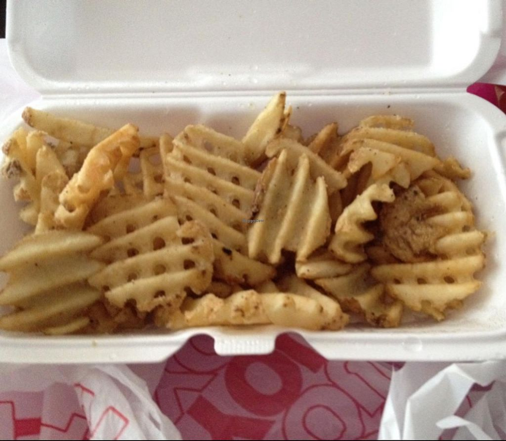 """Photo of CLOSED: Lucky's  by <a href=""""/members/profile/Tigra220"""">Tigra220</a> <br/>to-go order of waffle fries  <br/> May 16, 2015  - <a href='/contact/abuse/image/58176/102418'>Report</a>"""