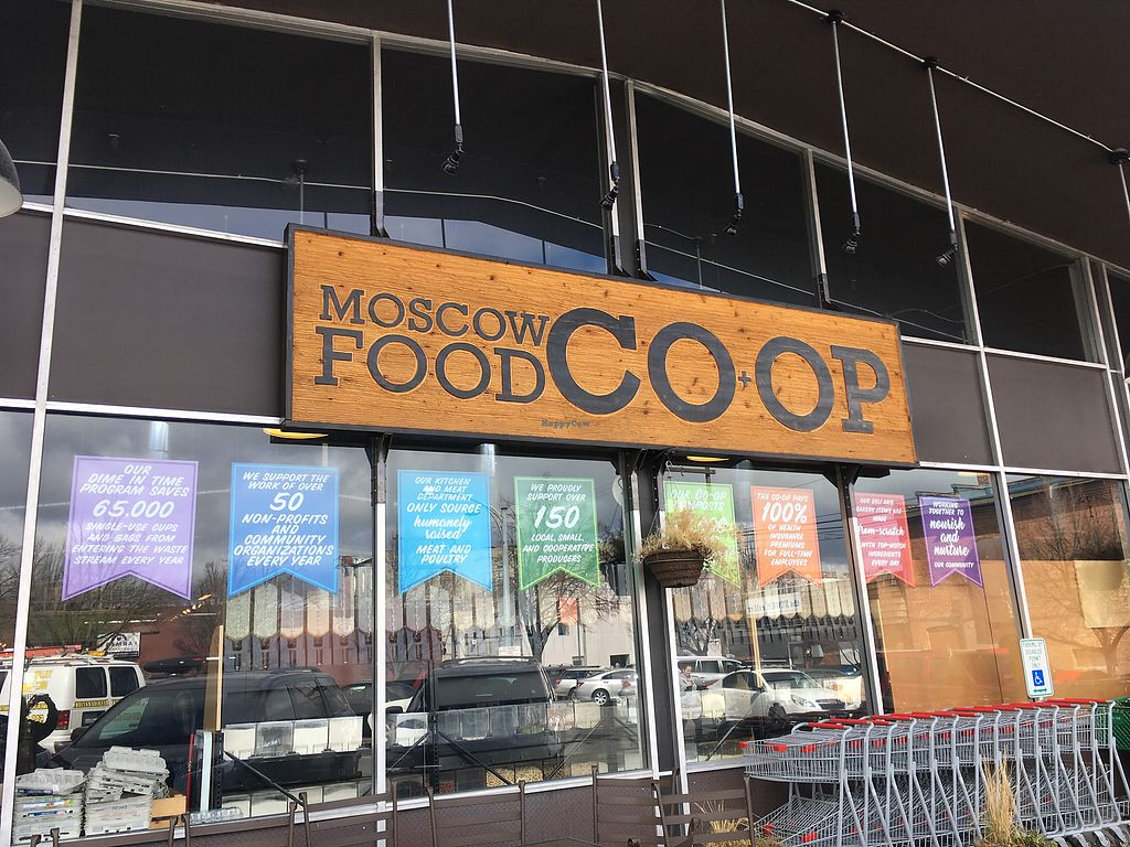 """Photo of Moscow Food Co-op  by <a href=""""/members/profile/rdfogelsong%40gmail.com"""">rdfogelsong@gmail.com</a> <br/>Storefront  <br/> April 10, 2018  - <a href='/contact/abuse/image/5819/383587'>Report</a>"""