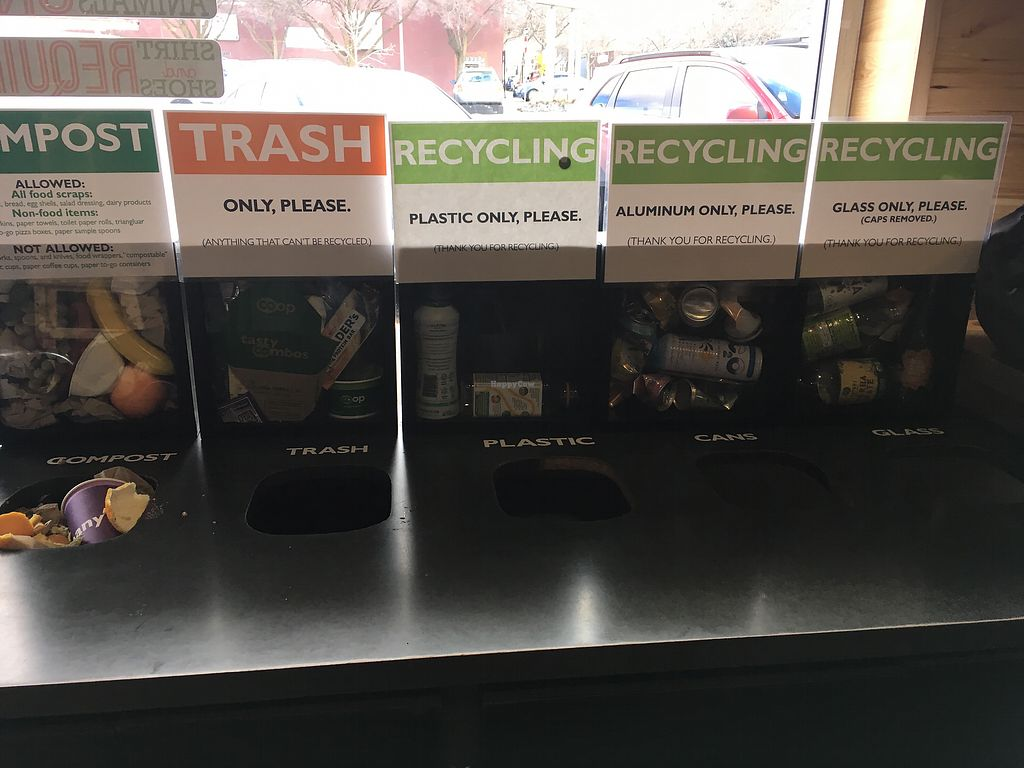 """Photo of Moscow Food Co-op  by <a href=""""/members/profile/rdfogelsong%40gmail.com"""">rdfogelsong@gmail.com</a> <br/>They encourage recycling! <br/> April 10, 2018  - <a href='/contact/abuse/image/5819/383590'>Report</a>"""