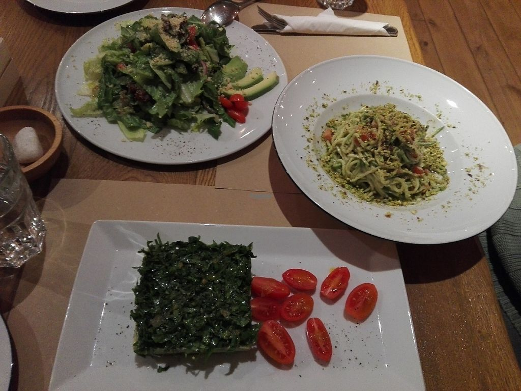 """Photo of Yi  by <a href=""""/members/profile/ElisaGR"""">ElisaGR</a> <br/>Noodles from Zucchini Avocado/Cashews cream cheese pie with rocca Green salad <br/> January 30, 2017  - <a href='/contact/abuse/image/58217/219491'>Report</a>"""