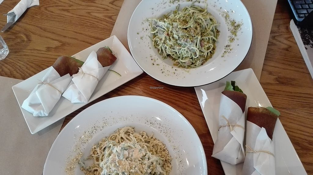 """Photo of Yi  by <a href=""""/members/profile/TytoAlba"""">TytoAlba</a> <br/>Raw vegan pasta and wraps <br/> February 14, 2018  - <a href='/contact/abuse/image/58217/359356'>Report</a>"""