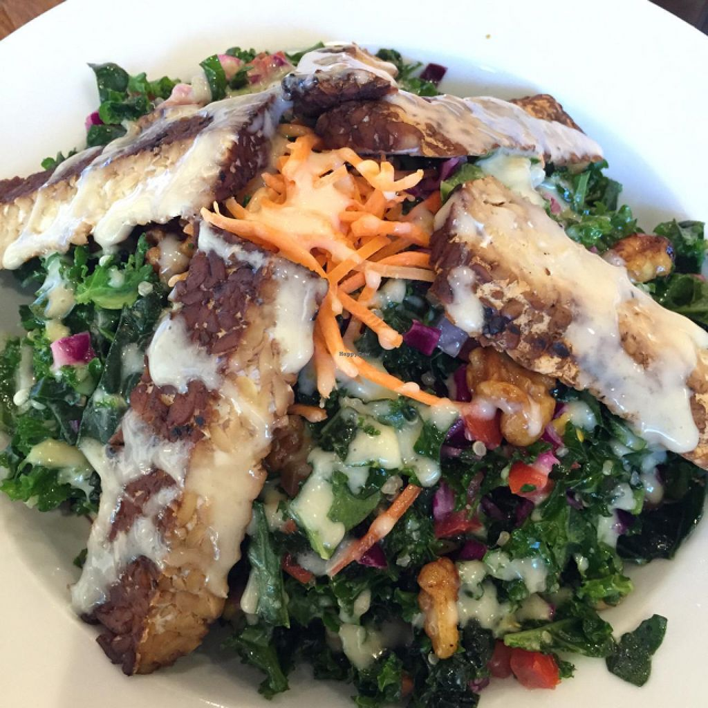 """Photo of Veggie Grill - Westgate Shopping Center  by <a href=""""/members/profile/WokWildside"""">WokWildside</a> <br/>All Hail Jale with Tempeh <br/> June 23, 2015  - <a href='/contact/abuse/image/58253/107041'>Report</a>"""