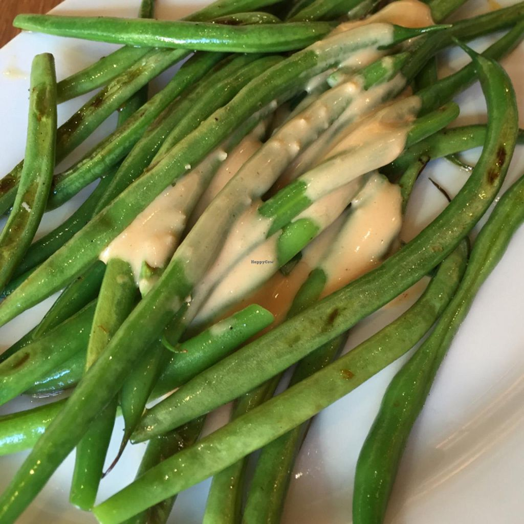 """Photo of Veggie Grill - Westgate Shopping Center  by <a href=""""/members/profile/WokWildside"""">WokWildside</a> <br/>Haricot Vert... aka French green beans <br/> June 23, 2015  - <a href='/contact/abuse/image/58253/107042'>Report</a>"""